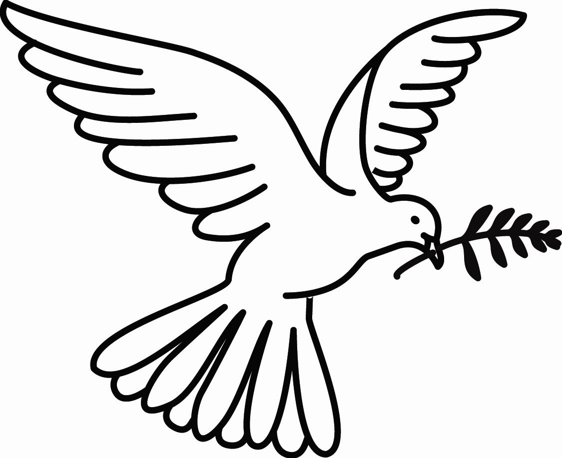Для, картинка на печать голубь