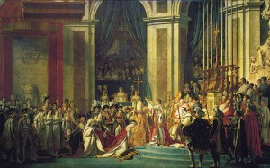 Sacre de Napoléon par Jacques-Louis David