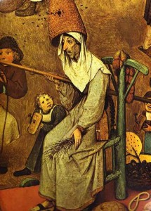 """""""Le combat de Carnaval et Carême"""", Peter Bruegel l'Ancien."""