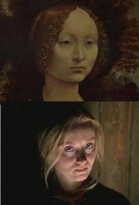 La femme de Kris Kelvin et la Jeune femme au genièvre de Léonard de Vinci