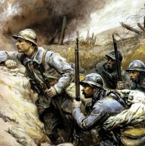 soldats français en 1914