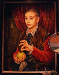 """""""le Garçon à la pomme"""" de Johannes von Hoytl"""