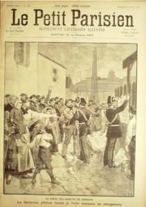 Page de une du Petit Parisien pendant la grève de Carmaux