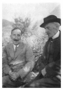 Romain Rolland et Stefan Zweig à Villeneuve en Suisse en 1933