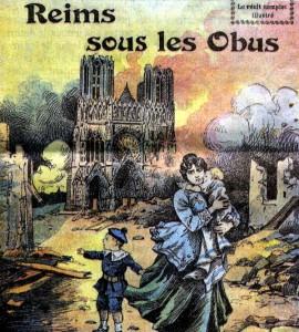 La destruction de la cathédrale dans les journaux