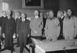 Les accords de Munich le 29 septembre 1938