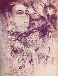 Portrait de Daumal par Cournault, en illustration du Contre-Ciel