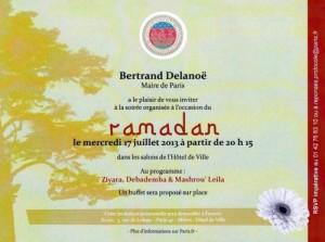 Comme Clémenceau en son temps, élu du même arrondissement, Delanoë célèbre le Ramadan