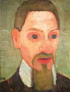 Portrait de Rainer Maria Rilke par Paula Modersohn-Becker.