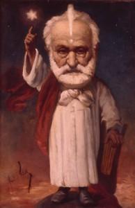 """Victor Hugo en mage"", par André Gill"