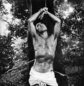 Yukio Mishima en saint Sébastien