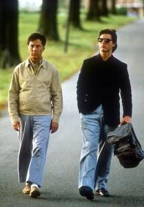 Dustin Hoffman et Tom Cruise dans Rain Man