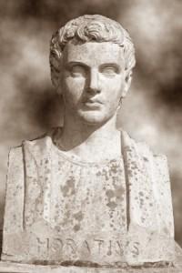 """Buste d'Horace, père du """"Carpe Diem"""""""