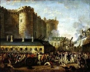 """""""La prise de la Bastille le 14 juillet 1789"""" par Jean-Baptiste Lallemand"""