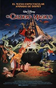 """Affiche espagnole """"Taram et le Chaudron Magique"""" (Disney 1985)"""