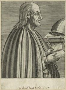 St Anselme de Cantorbéry (gravure du XVIe s.)