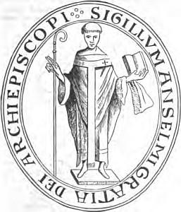 Le sceau de saint Anselme
