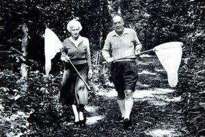 Vladimir Nabokov et sa femme Vera