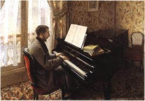 Le jeune homme au piano de Gustave Caillebotte