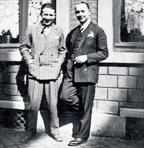 Georges (à gauche) et Christian Simenon
