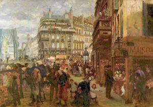 Adolph von Menzel, Une journée à Paris