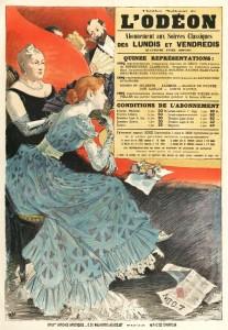 Affiche d'Eugène Grasset pour le théâtre de l'Odéon