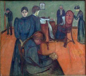 Mort dans la chambre de la malade, Edvard Munch