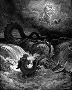 La destruction du Léviathan, gravure de Gustave Doré