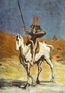 Don Quichotte Rossinante - Daumier