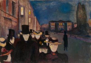 Soirée sur L'avenue Karl-Johann, Edvard Munch