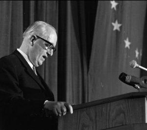 """Walter Hallstein, """"père de l'Europe"""", premier Président de la Commission, fédéraliste acharné, diplomate adulé aux Etats-Unis, finalement renversé par de Gaulle en 1965."""