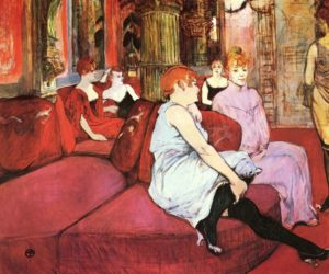 Salon de la rue des Moulins, par Henri de Toulouse-Lautrec (1895)