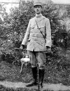 De Gaulle en uniforme durant la Première Guerre Mondiale