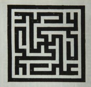 Calligraphie en style koufique du nom de 'Alî