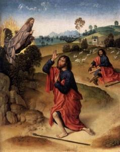 Dirk Bouts, Moïse et le Buisson ardent