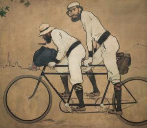 Ramón Casas y Pere Romeu en un tándem, Ramón Casas, 1897