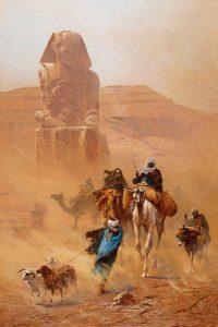Ludwig Hans FISCHER - Bedouins dans une tempête de sable (1891)