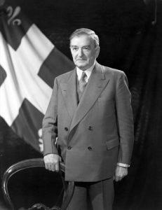 Maurice Duplessis, premier ministre du Québec (1936-1939, 1944-1959)