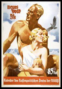 """Calendrier 1938, """"Un nouveau peuple"""""""
