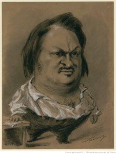 portrait de balzac caricature