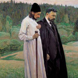 Florensky et Boulgakov, peint par Mikhaïl Nesterov.