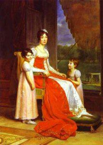 Julie Clary, femme de Joseph et leurs filles
