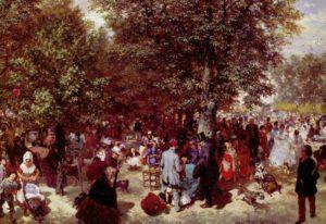 Après-midi au jardin des Tuileries de Adolph von Menzel