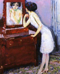 """Femme face au miroir"", Kees van Dongen, 1920"