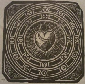 Gravure de Charbonneau-Lassay extraite du Bestiaire du Christ