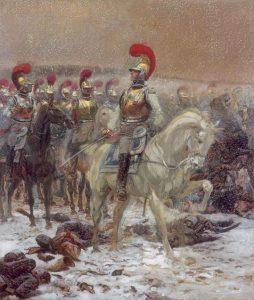 Carabiniers à cheval en Russie par Edouard Detaille