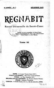 Tome 10 de la Revue Regnabit