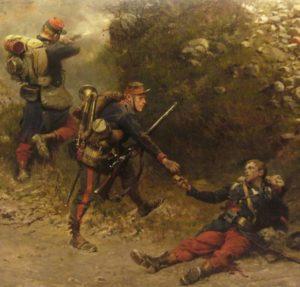 Fragment de la bataille de Champigny - Le fond de la giberne