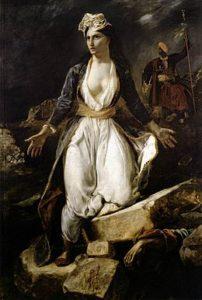 La Grèce sur les ruines de Missolonghi est un tableau réalisé par Eugène Delacroix en 1826