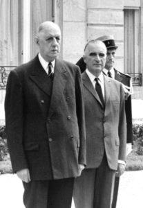 De Gaulle et Pompidou